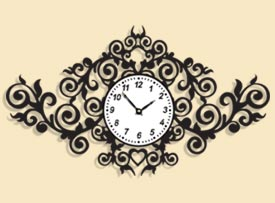 طرح ساعت برای برش لیزری